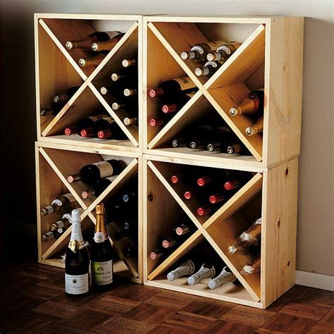 Diy Wood Wine Rack Cube