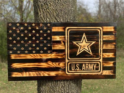 Diy Wooden American Flag With Military Theme