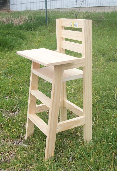 Diy Wooden Baby High Chair