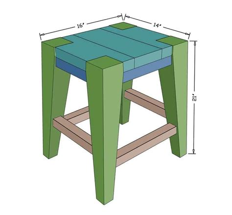Diy Wooden Bar Stool Dimensions