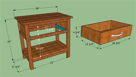 Diy Wooden Bedside Table Plans