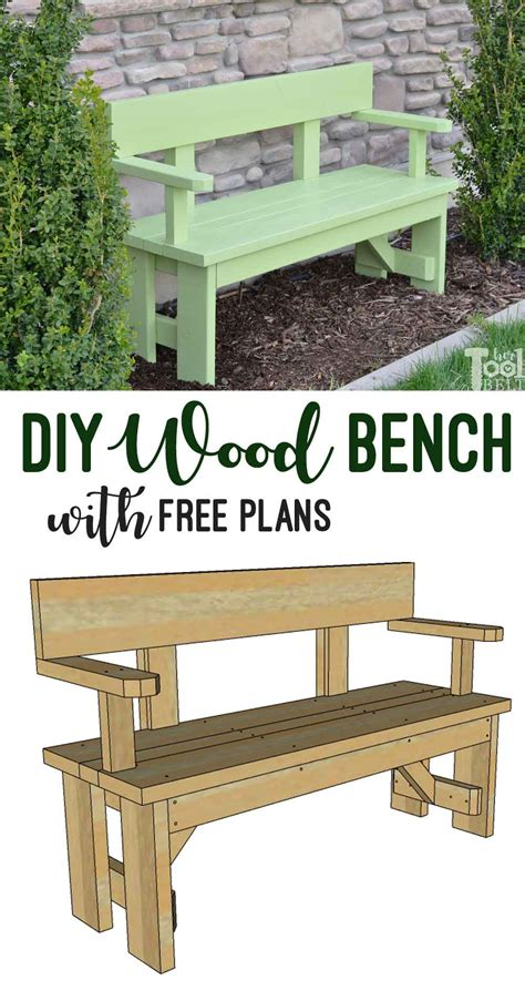 Diy Wooden Bench With Back Plans Free