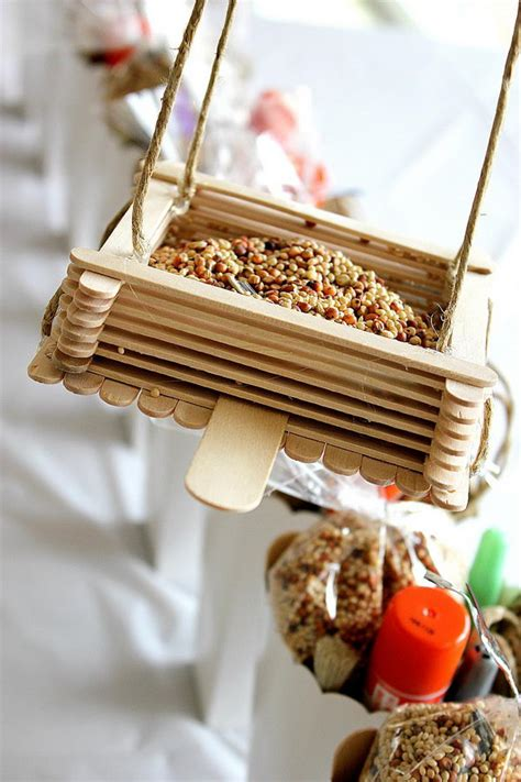 Diy Wooden Bird Feeders With Popsicle Sticks