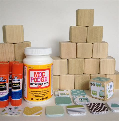 Diy Wooden Blocks Baby Shower