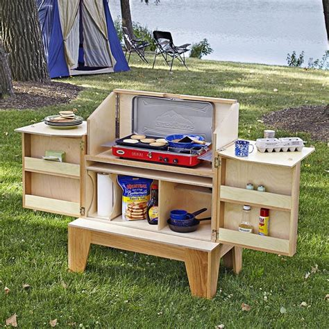 Diy Wooden Camp Kitchen