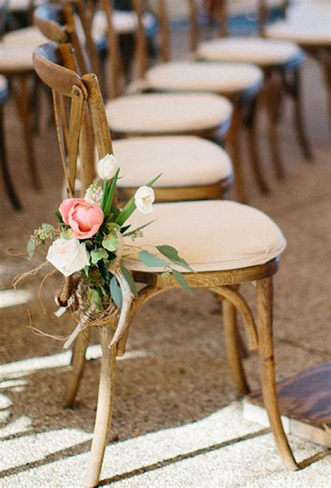 Diy Wooden Chair Aisle Decorations
