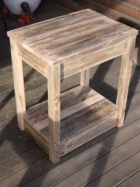 Diy Wooden Chair Side End Table