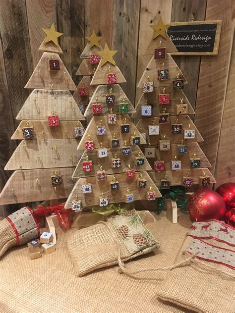 Diy Wooden Christmas Tree Advent Calendar