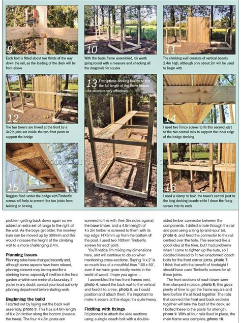Diy Wooden Climbing Frame Plans