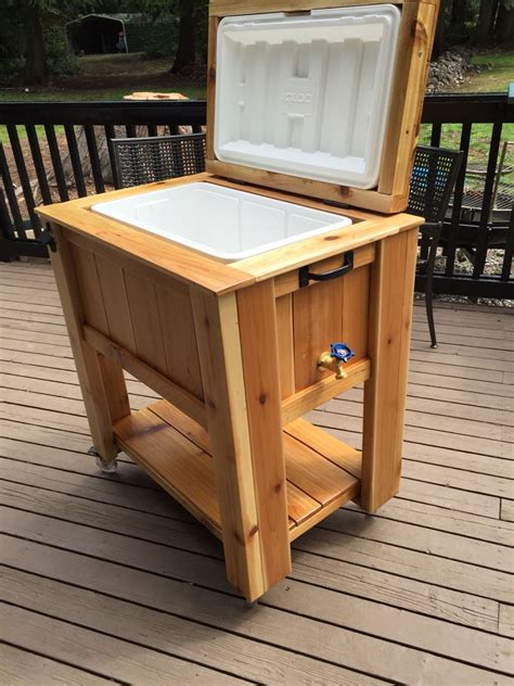 Diy Wooden Cooler Cart