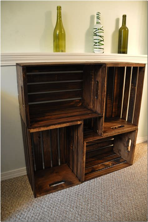 Diy Wooden Crate Bookcase