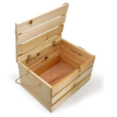 Diy Wooden Crate With Lid