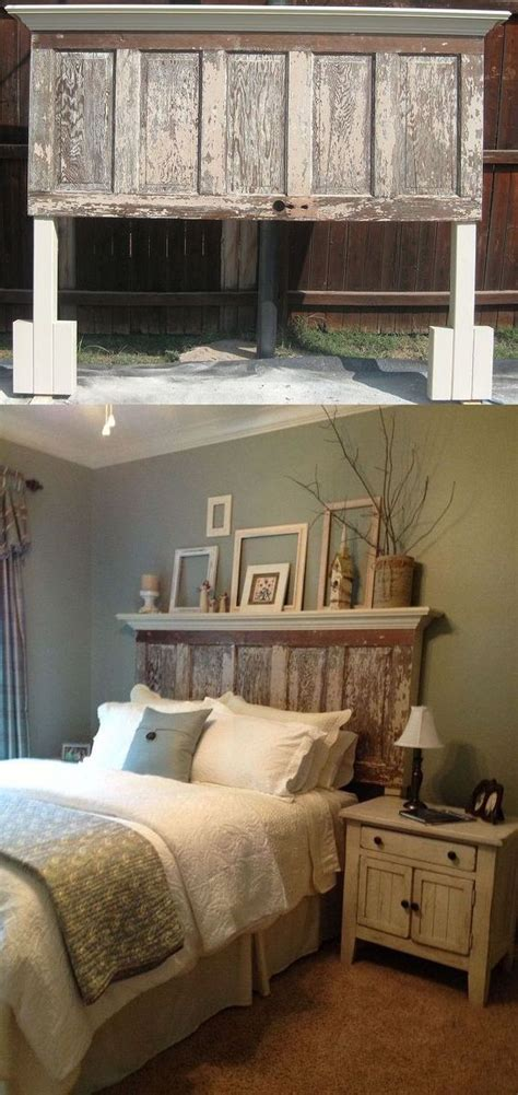 Diy Wooden Door Headboard