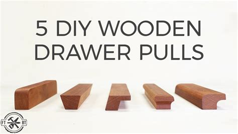 Diy Wooden Drawer Handles