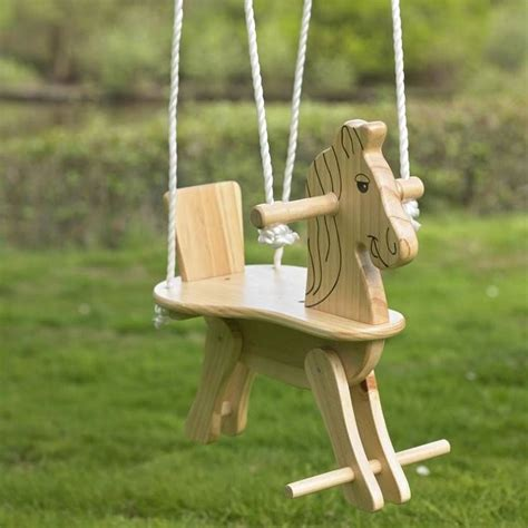 Diy Wooden Horse Swing Set For Toddlers