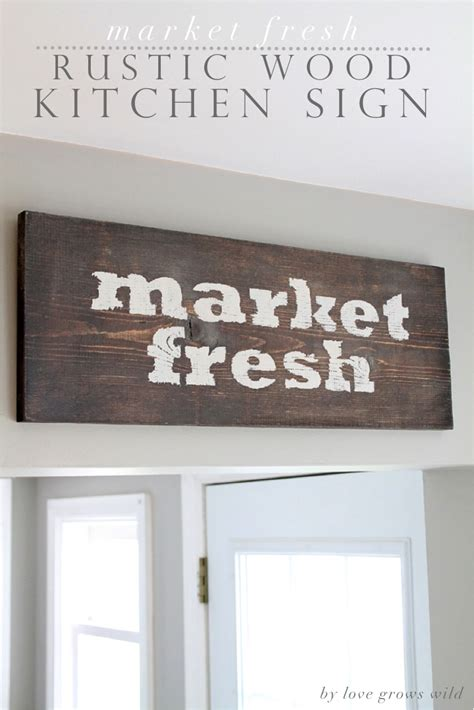 Diy Wooden Kitchen Signs