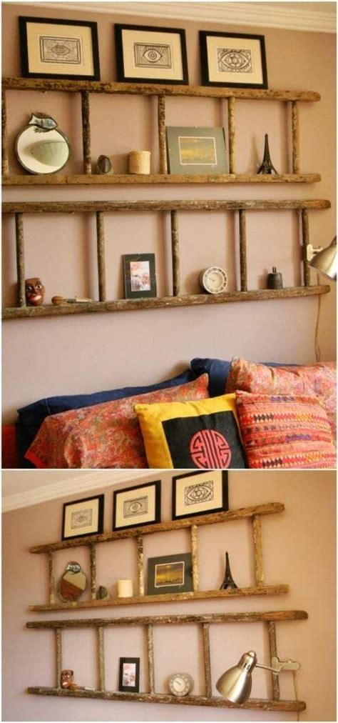 Diy Wooden Ladder Headboards