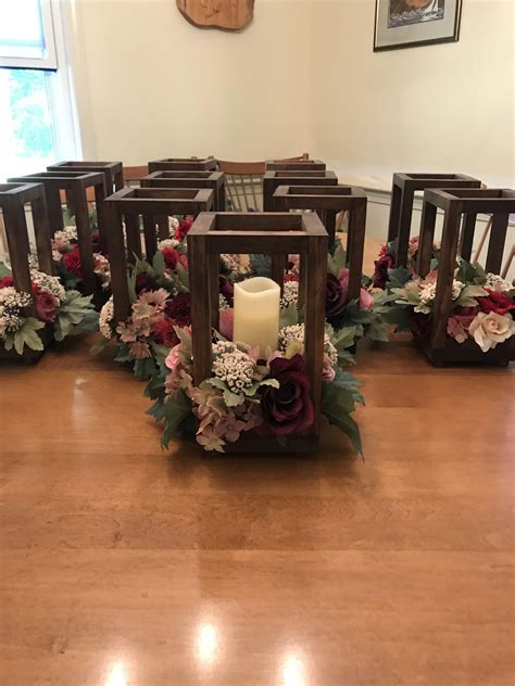 Diy Wooden Lanterns For Weddings On Pinterest