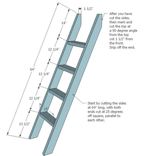 Diy Wooden Loft Ladder Plans