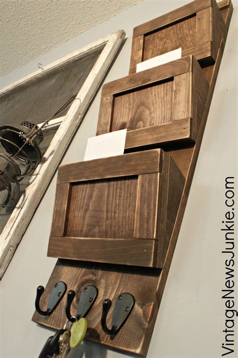 Diy Wooden Mail Organizer