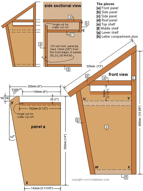 Diy Wooden Mailbox Post Plans