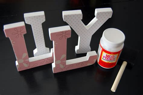 Diy Wooden Name Letters