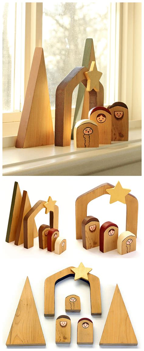 Diy Wooden Nativity Scene