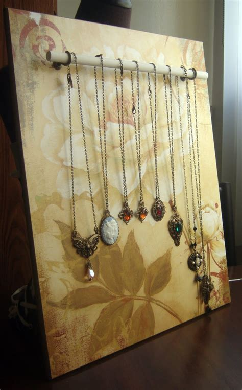 Diy Wooden Necklace Display