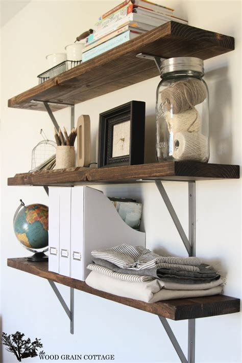 Diy Wooden Office Shelves