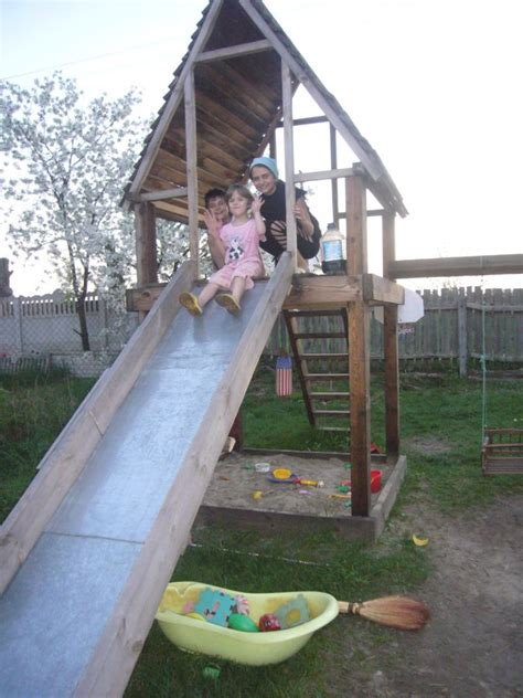 Diy Wooden Playhouse With Slide