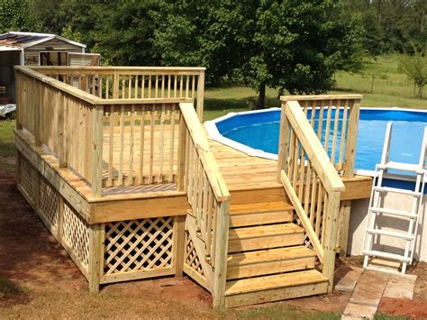 Diy Wooden Pool Deck