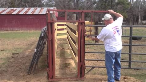 Diy Wooden Sliding Gate For Cattle Chute