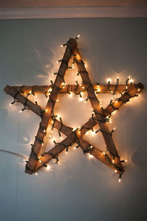 Diy Wooden Star For Christmas Decoration