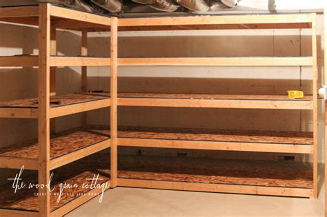 Diy Wooden Storage Shelves Basement Windows