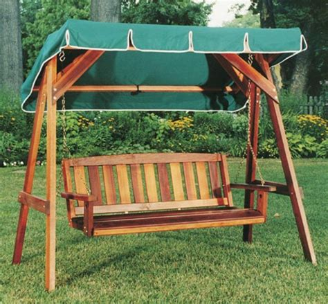 Diy Wooden Swing Frame With Canopy