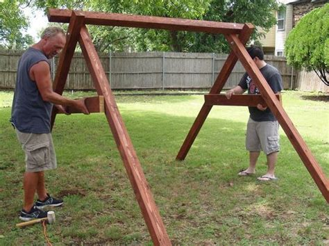 Diy Wooden Swing Set On A Budget