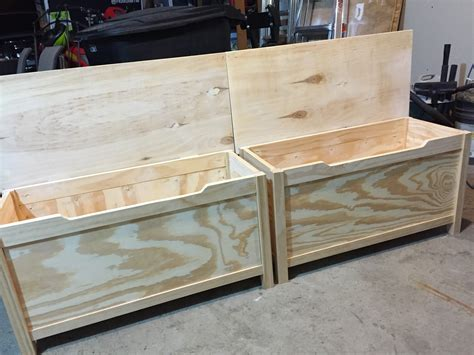 Diy Wooden Toy Box With Lid