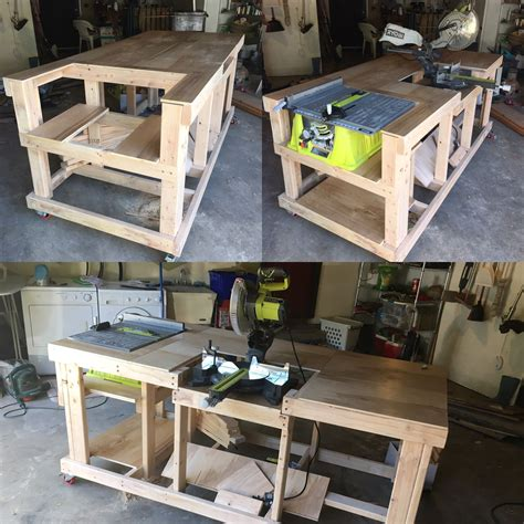 Diy Work Table With Table Saw