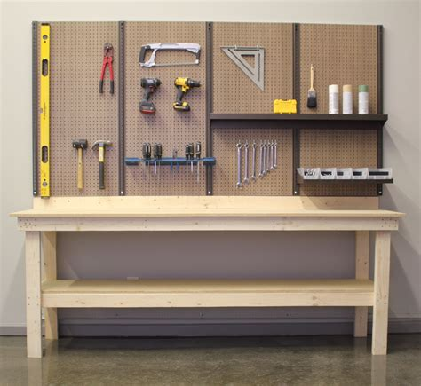 Diy Workbench Pegboard Shelf