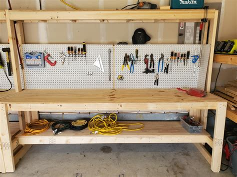 Diy Workbench Plans With Peg Board