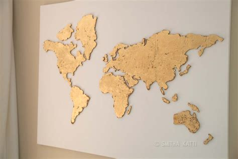 Diy World Map Canvas