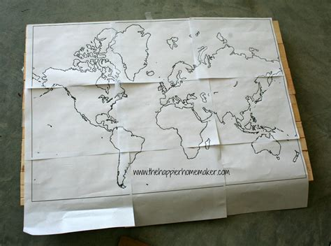 Diy World Map On Wooden Planks