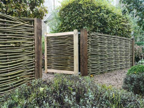 Diy Woven Willow Fence