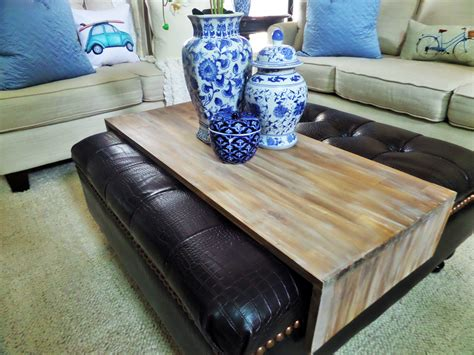 Diy Wrap Around Ottoman Tray