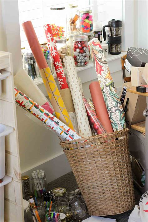 Diy Wrapping Paper Storage