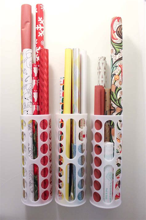Diy Wrapping Paper Storage Ideas