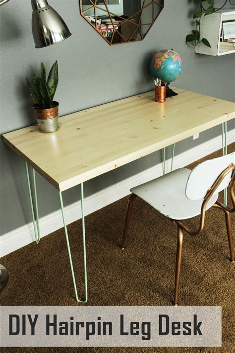 Diy Writing Desk With Hairpin Legs