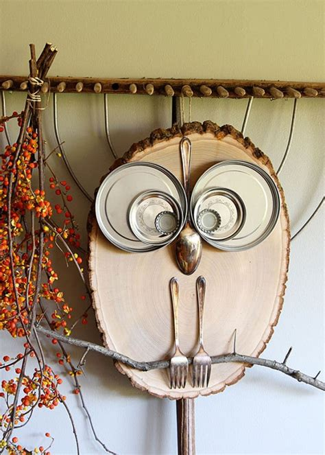 Diy Youtube Owl From Wood Slices For Sale