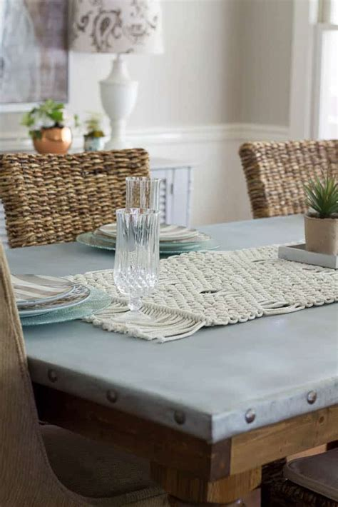 Diy Zinc Covered Table Top