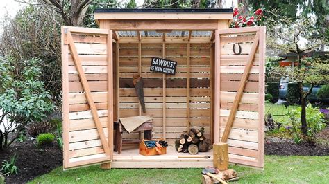 Diy how to build a cedar shed say goodbye to garage backyard clutter Image